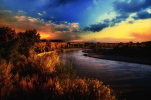 Фото бесплатно San Juan River, Utah, закат