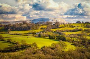 Бесплатные фото Южный Уэльс,Великобритания,поля,холмы,дом,деревья,пейзаж