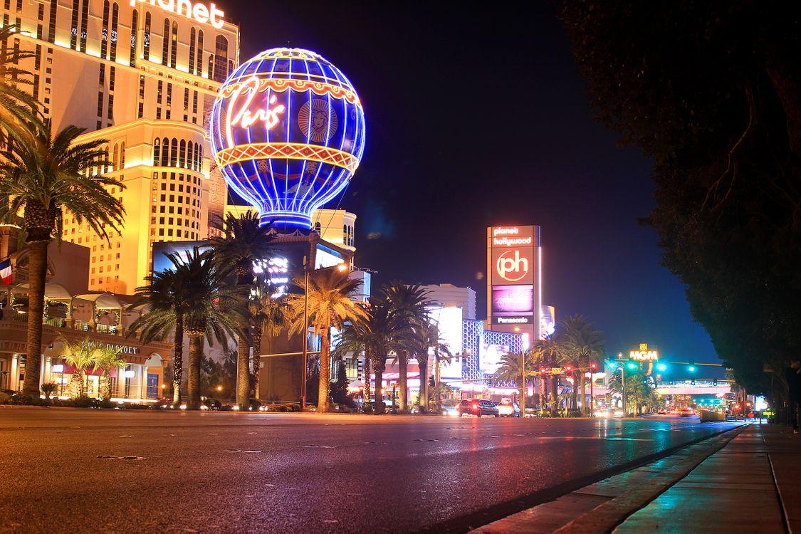Фото бесплатно Las Vegas, Лас-Вегас, город на западе США, штат Невада, ночь, иллюминация, город
