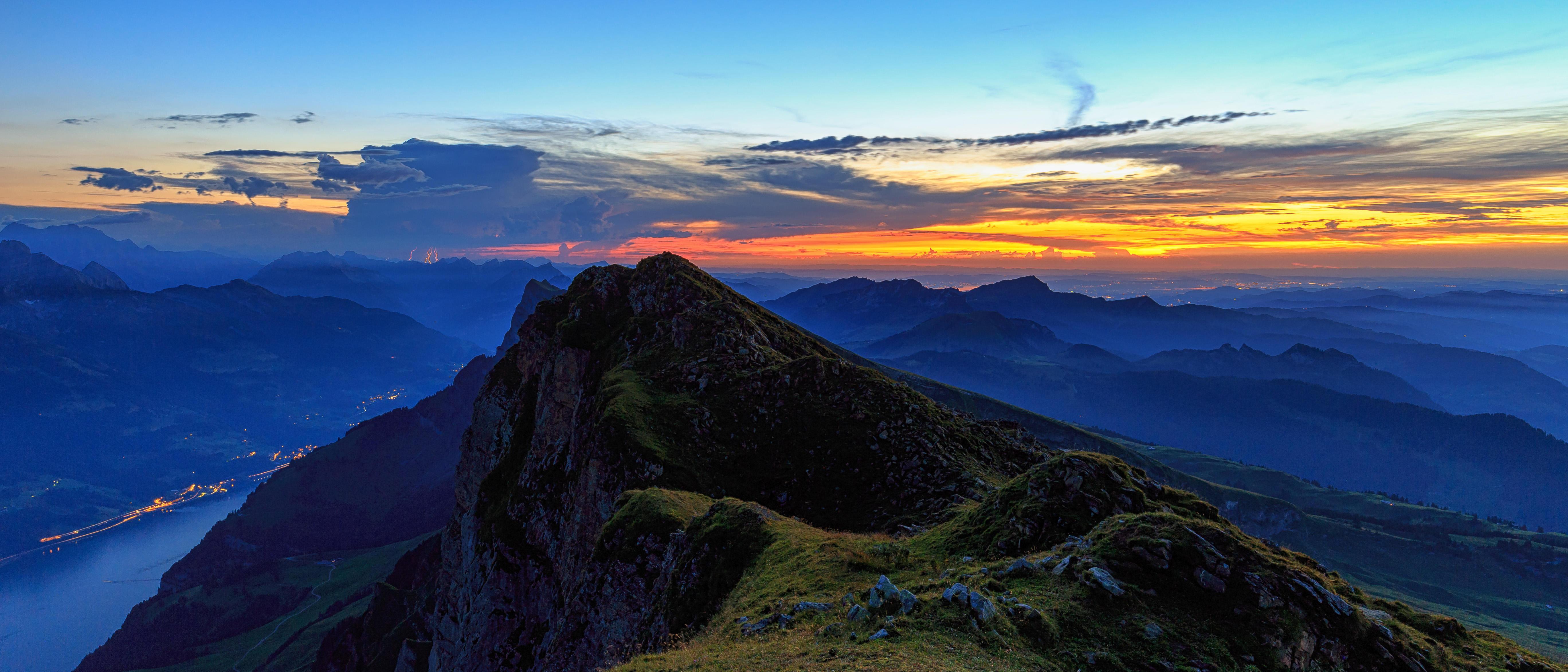 обои Хурфирстен, горный хребет в кантоне, Санкт-Галлен, Швейцария картинки фото