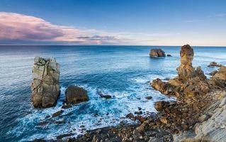 Фото бесплатно Кантабрия, море, волны
