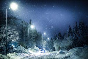Фото бесплатно зима, Свет, огни