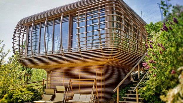 Бесплатные фото вилла,бамбук,стекла,лестница,растительность