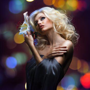 Фото бесплатно макияж, красивое платье, красивый макияж