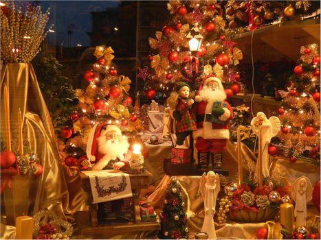 Фото бесплатно пейзажи, Дед Мороз, иллюминация