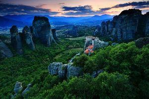 Фото бесплатно Метеоры, скалы, Калампака