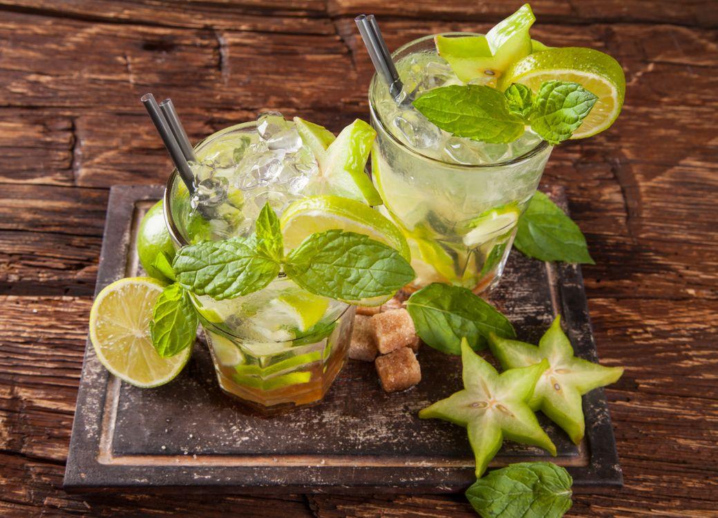 Фото бесплатно Коктейль, мохито, бокалы, фрукты, напиток, напитки - скачать на рабочий стол