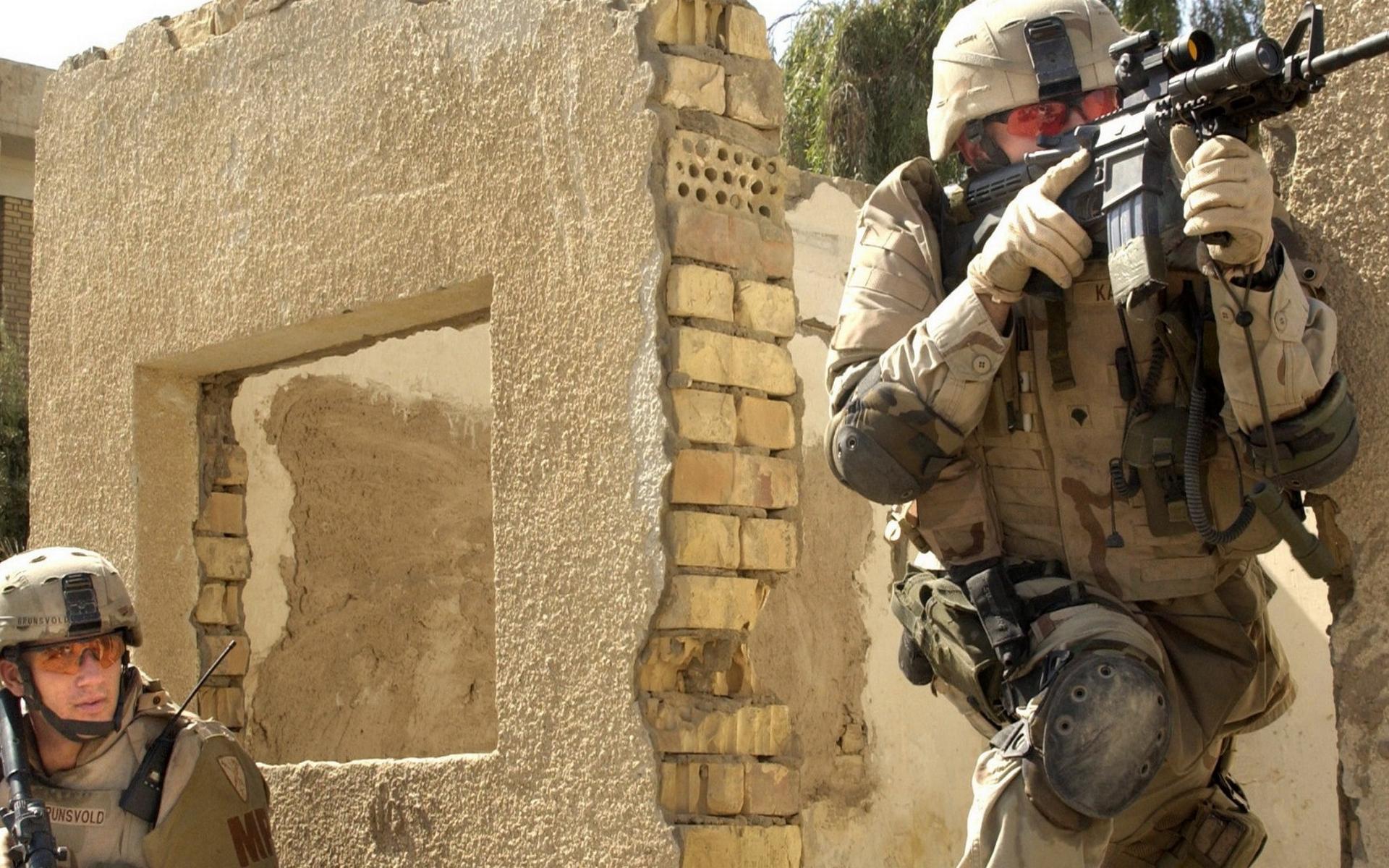 солдаты, тренировка, амуниция