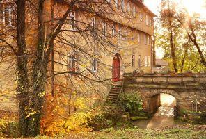 Бесплатные фото Hotel Schloss Sindlingen,Бавария,Германия,осень