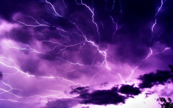 Фото бесплатно небо, тучи, молния