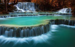 Фото бесплатно водопады, пороги, река