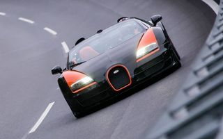 Заставки Bugatti, кабриолет, трасса