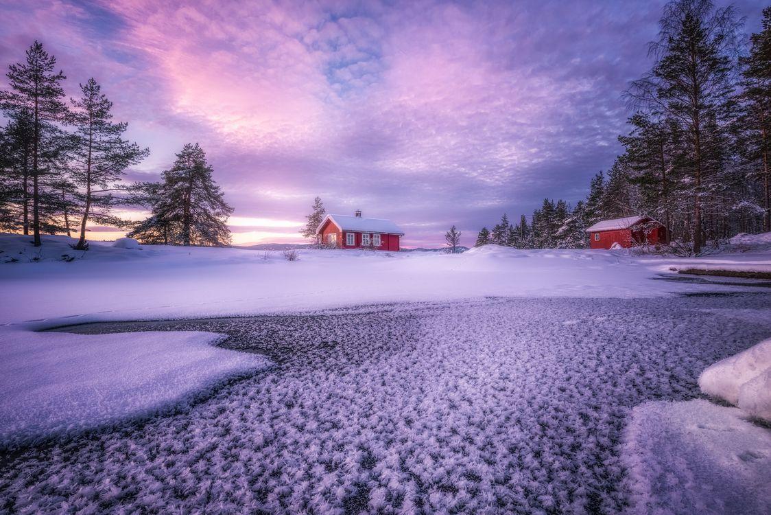 Фото бесплатно дом, Скандинавия, зима - на рабочий стол
