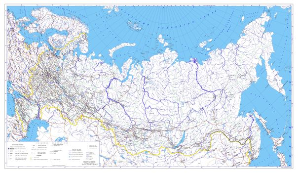 Photo free Russia Administrative map, map of Russia