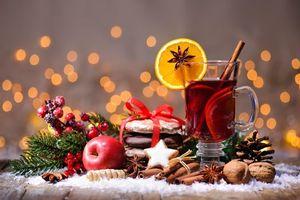 Фото бесплатно Новогодний натюрморт, Новогодние обои, Новый год