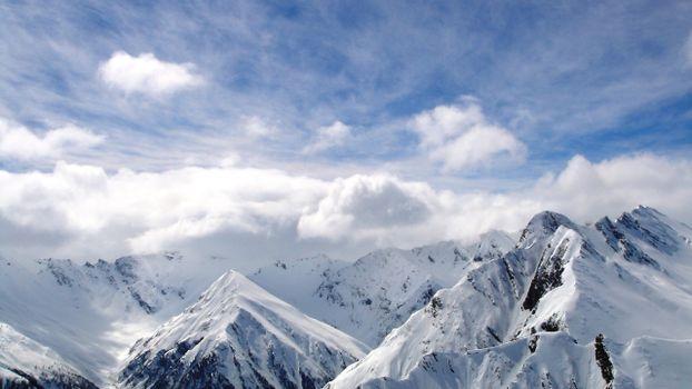 Фото бесплатно снег, вершины, облака