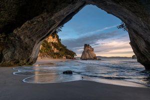 Бесплатные фото Новая Зеландия,море,закат,берег,пляж,скалы,арка