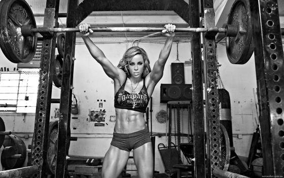 Фото бесплатно девушка, спортсменка, штанга