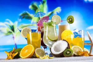 Бесплатные фото море,фрукты,коктейли,напитки