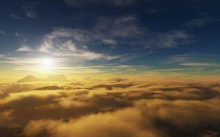 Бесплатные фото небо,солнце,облака,горы,вершины,высота