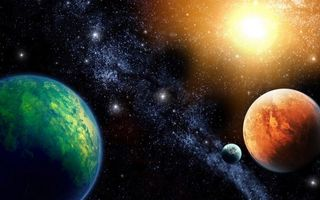 Бесплатные фото планеты,солнце,звезды,свечение,невесомость,вакуум