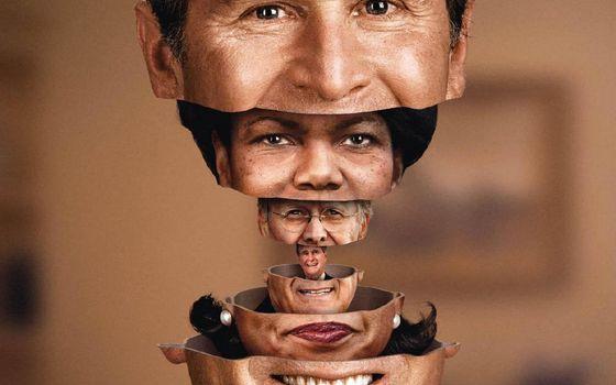 Photo free head, matryoshka, faces