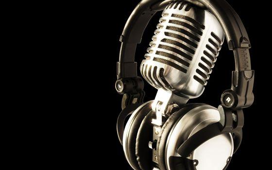 Фото бесплатно микрофон, стальной, наушники