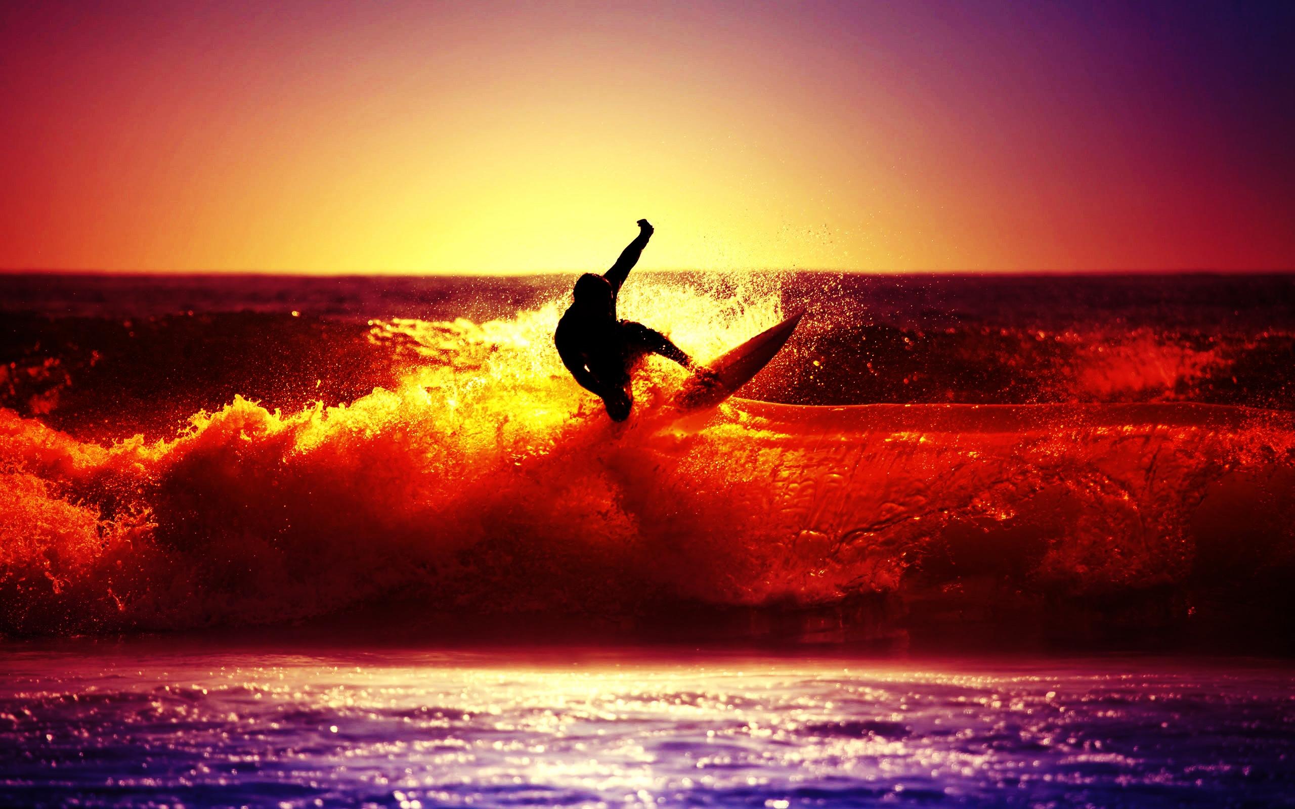 серфинг, море, волны