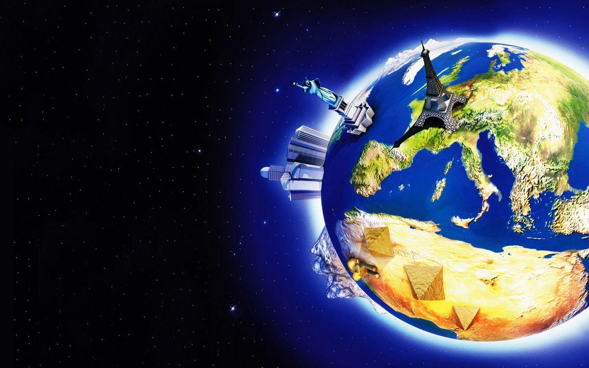 Фото бесплатно космос, звезды, планета, земля, достопримечательности, разное