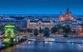 Бесплатные фото Венгрия, Будапешт, река, мост, храм