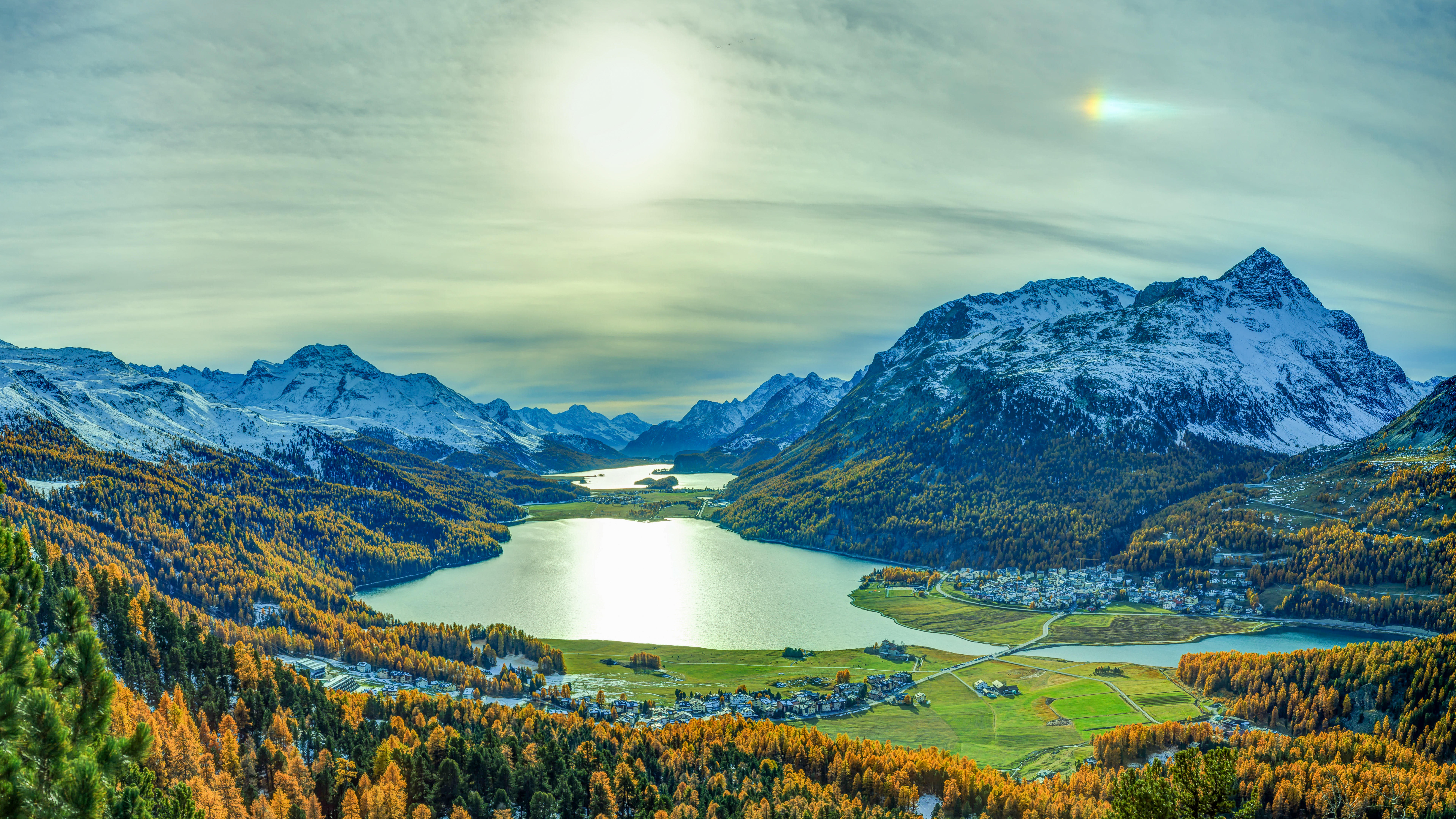 обои Граубюнден, Швейцария, горы, озеро картинки фото