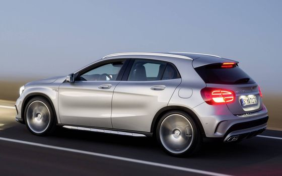 Photo free Mercedes, silver, crossover