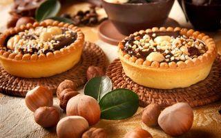 Фото бесплатно тортик, орешки