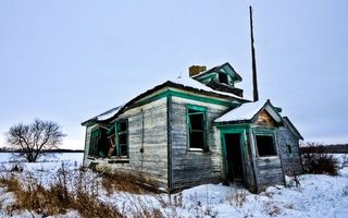 Photo free house abandoned, ruins, snow