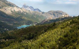 Фото бесплатно горы, небо, растительность