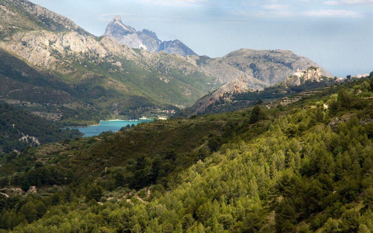 Фото бесплатно горы, небо, растительность - на рабочий стол