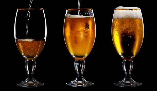 Фото бесплатно пиво, бокалы, пена