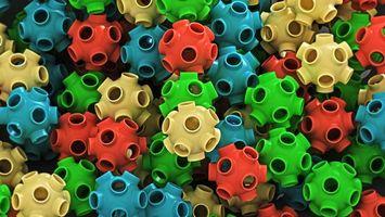 Бесплатные фото пластмасса,изделия,шарики,цветные,отверстия