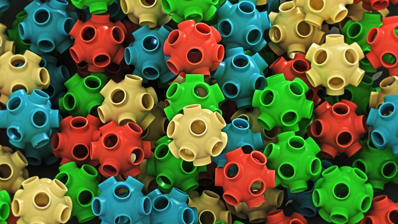 Фото бесплатно пластмасса, изделия, шарики, цветные, отверстия, разное