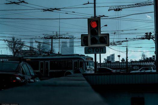 Фото бесплатно Природа, тьма, город