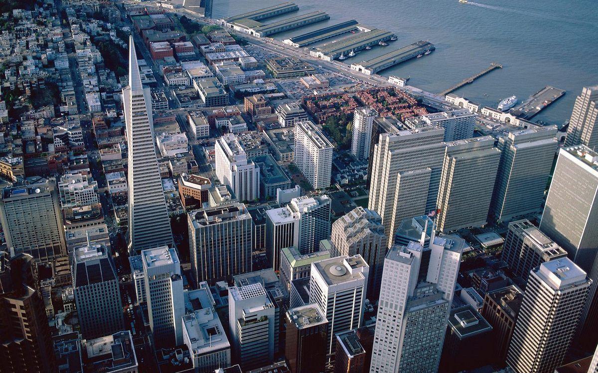 Фото бесплатно вид сверху, улиц, домов - на рабочий стол
