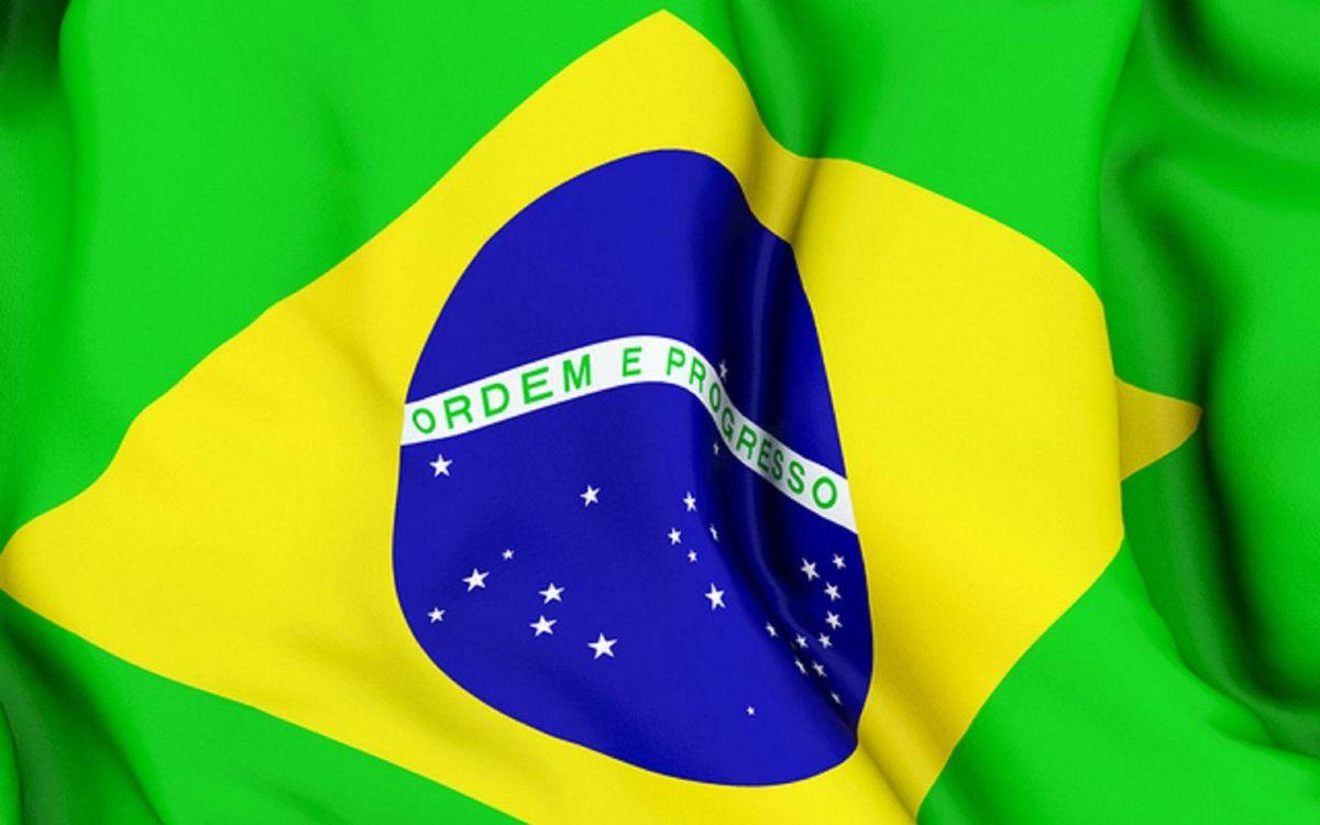 Фото бесплатно флаг, бразилия, зеленый, ромб, желтый, круг, надпись, разное