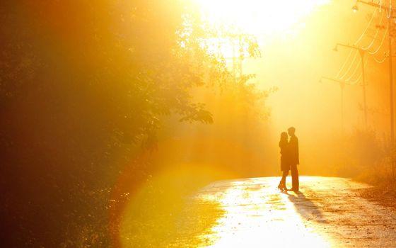 Бесплатные фото любовь,пара,солнце,дорога