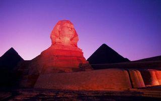 Фото бесплатно Большой Сфинкс, закат солнца, Египет