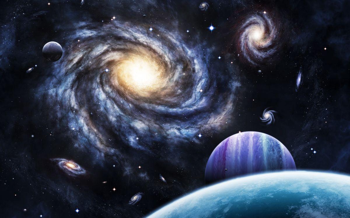 Фото бесплатно космос, вселенная, планеты, звезлы, свечение, невесомость, вакуум, галактика, art, космос - скачать на рабочий стол