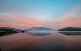 Фото бесплатно озеро, берег, гора