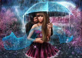 Заставки весна, дождь, пара