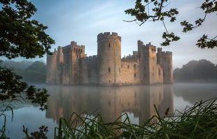 Фото бесплатно Замок Бодиам, Англия, Bodiam Castle