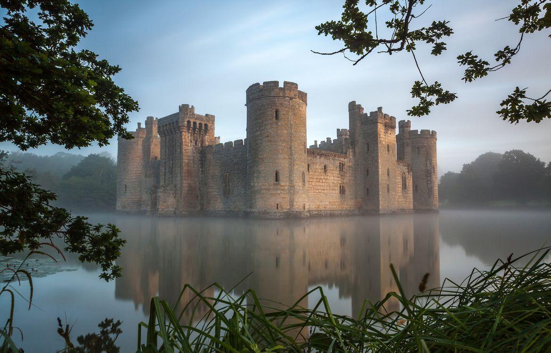 Обои Замок Бодиам, Англия, Bodiam Castle картинки на телефон