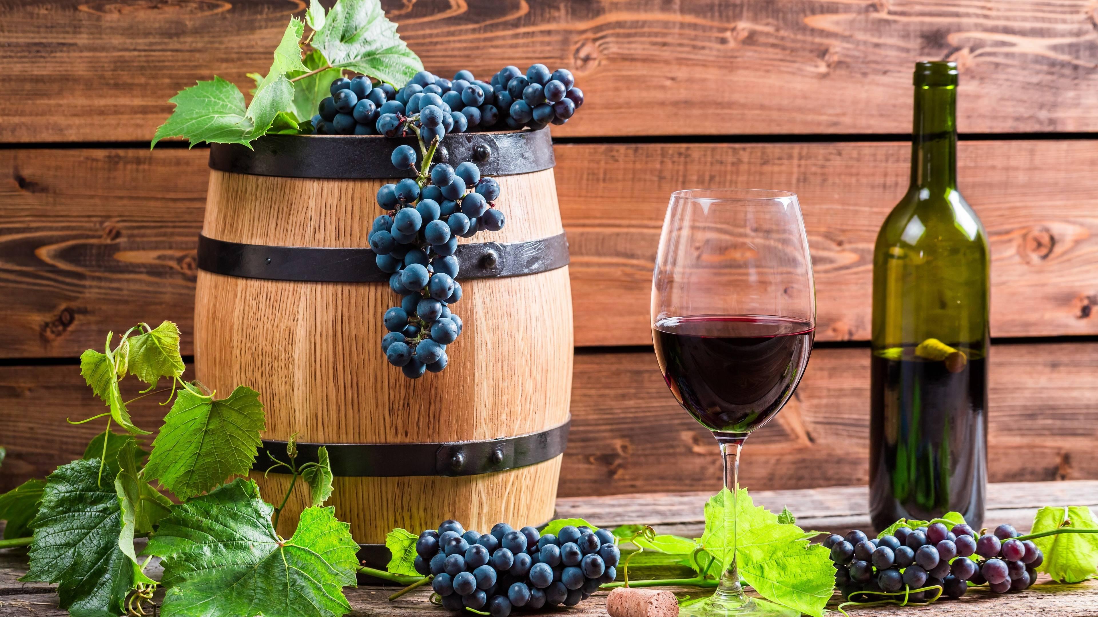 вино, бочка, бокал